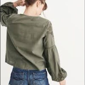 NWT Abercrombie & Fitch Linen Blouse